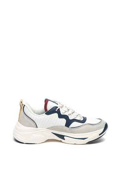 Pepe Jeans London Pantofi sport de piele si piele intoarsa Sinyu Femei