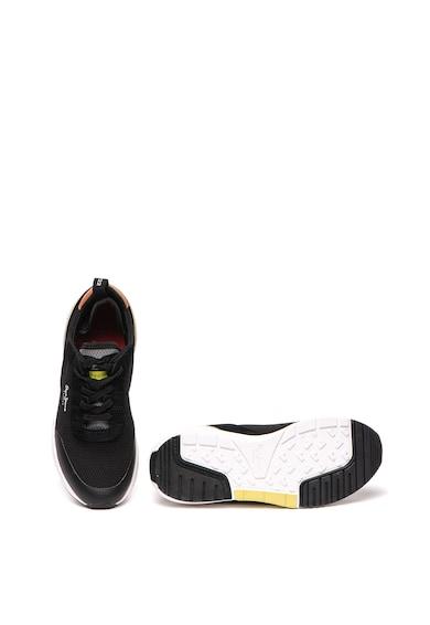 Pepe Jeans London Pantofi sport de plasa cu insertii de piele intoarsa No 22 Femei