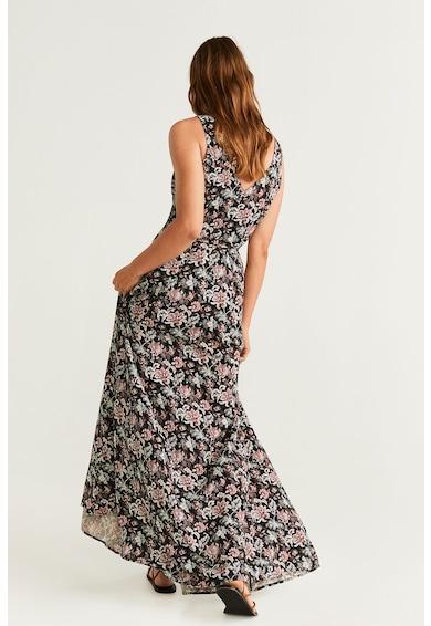 Mango Rochie maxi cu imprimeu floral si croiala petrecuta Cofy Femei