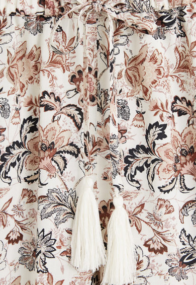 Mango Pantaloni scurti cu imprimeu floral Boho Femei