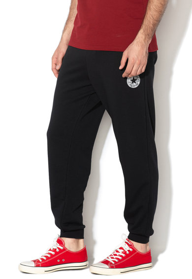 Converse Pantaloni sport cu snur si imprimeu grafic Nova Barbati