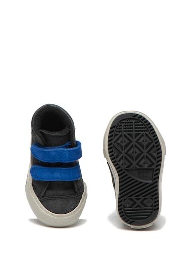 Converse Pantofi sport de piele intoarsa, cu logo si velcro Chuck Taylor All Star Fete