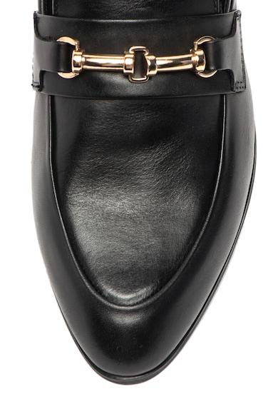 Vagabond Shoemakers Pantofi loafer de piele, cu aplicatie metalica Frances Femei