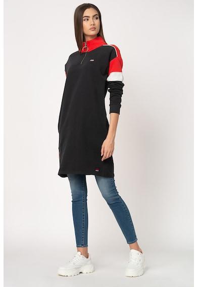 SUPERDRY Rochie tip bluza sport cu captuseala de fleece si fenta cu fermoar Femei