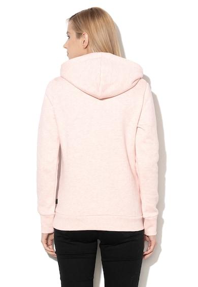 SUPERDRY Hanorac cu captuseala din fleece si logo cu paiete Femei