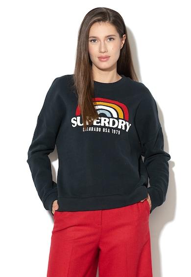 SUPERDRY Bluza sport cu decolteu la baza gatului si logo Femei