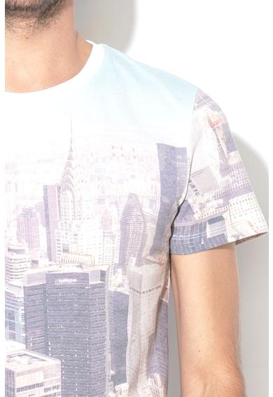Tom Tailor Тениска с овлно деколте и фигурален десен Мъже