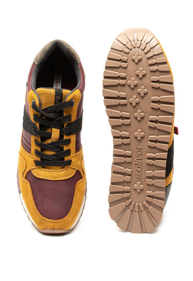 s.Oliver Pantofi sport de piele ecologica, cu garnituri de piele intoarsa Barbati
