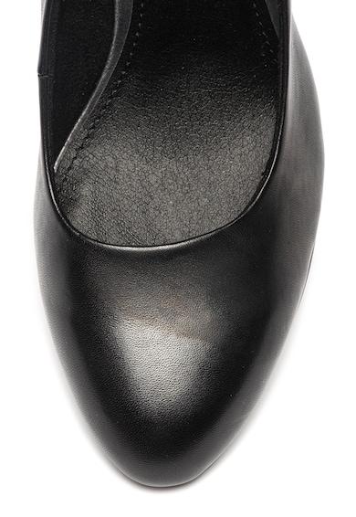s.Oliver Pantofi de piele cu toc masiv Femei