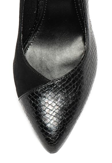 s.Oliver Pantofi de piele ecologica, cu insertii cu model piele de reptila Femei