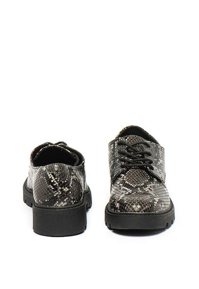 s.Oliver Pantofi de piele ecologica, cu model piele de sarpe Femei