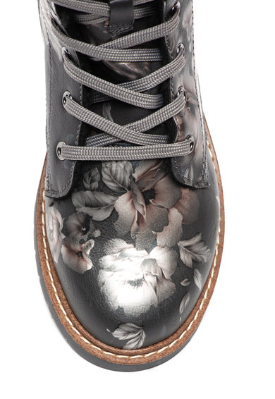 s.Oliver Ghete de piele ecologica, cu model floral Fete