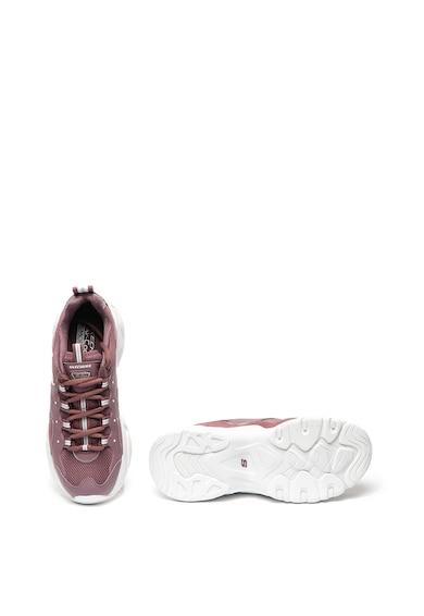 Skechers Спортни обувки D'Lites 3.0 от кожа и текстил Жени