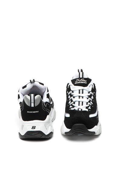 Skechers Pantofi sport de piele nabuc D'Lites 3.0 Stride Ahead Femei