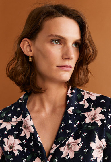 Mango Rochie tip camasa cu model floral Camisago Femei