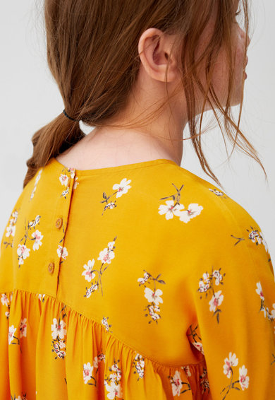 Mango Разкроена рокля Tinda с флорален десен Момичета