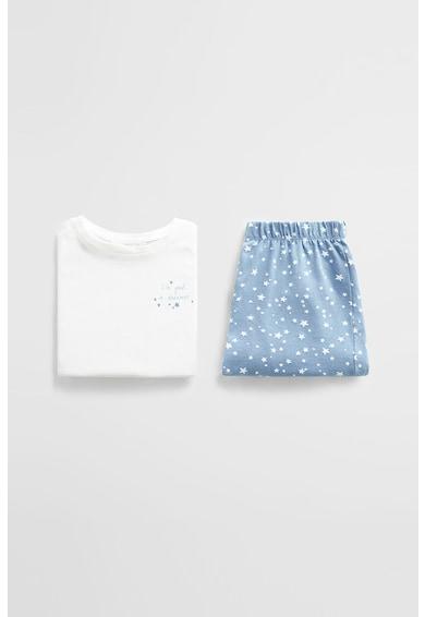 Mango Pijama cu pantaloni scurti, din bumbac organic si cu imprimeu cu stele Dreamer Fete