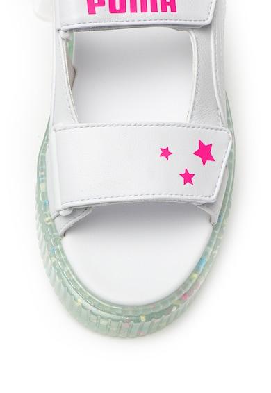 Puma Кожени сандали на платформа Жени