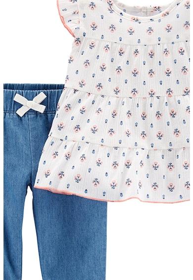 Carter's Set de bluza cu imprimeu si pantaloni- 2 piese Fete