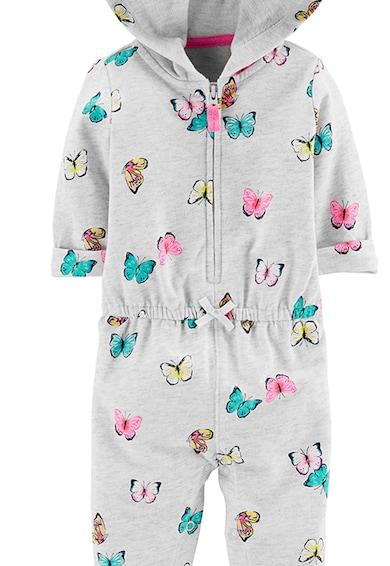 Carter's Гащеризон с десен на пеперуди и качулка Момичета