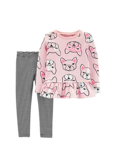Carter's Set de bluza cu imprimeu si colanti French Bulldog Fete