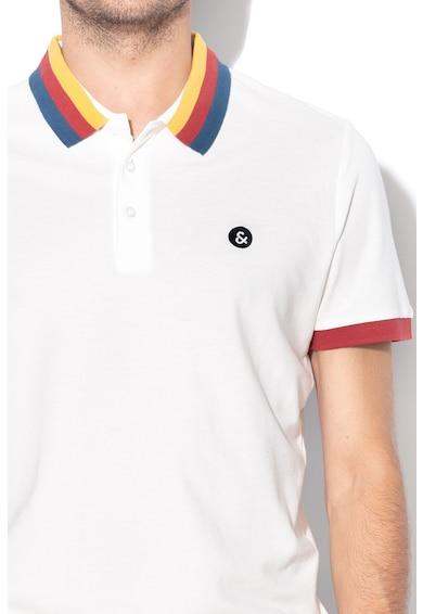 Jack&Jones Tricou polo regular fit cu garnituri contrastante Rainbow Barbati