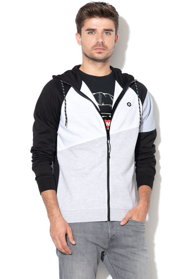 Jack&Jones Hanorac cu fermoar si model colorblock Take Barbati