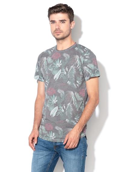 Jack&Jones Tricou slim fit cu model tropical Mercer Barbati