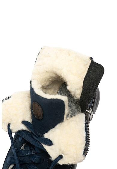 Diesel Ghete de piele nabuc ecologica, cu captuseala de blana shearling sintetica Fete