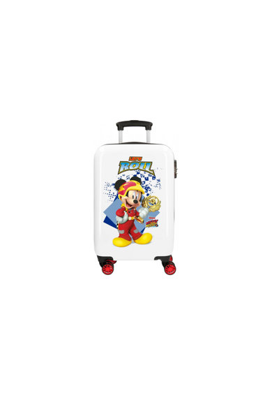 Disney Troler  Mickey Joy, Alb/Multicolor, 4 roti, 55 cm Femei