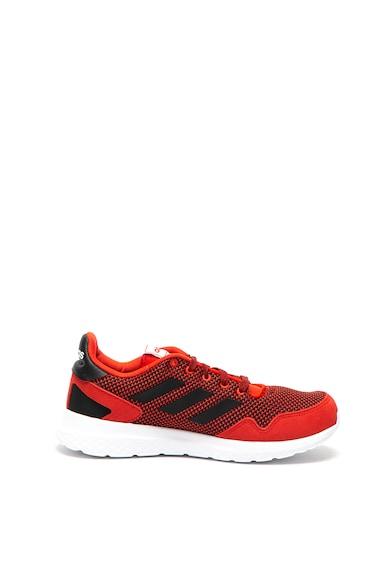 Adidas PERFORMANCE Pantofi sport de piele si tricot cu branturi cloudFoam Archivo Barbati