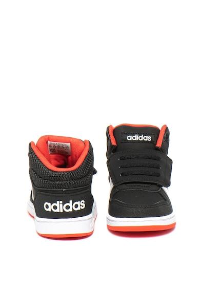 Adidas PERFORMANCE Pantofi sport mid-high de piele ecologica, cu velcro Hoops Fete