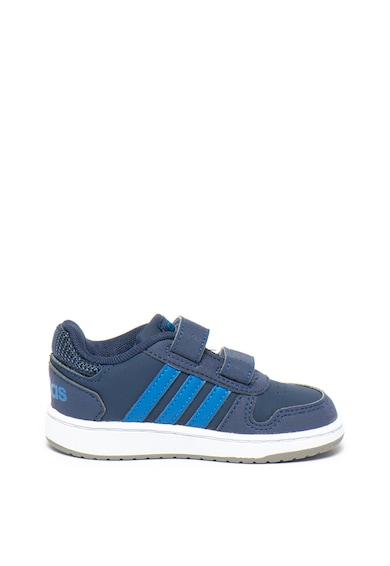 Adidas PERFORMANCE Pantofi sport de piele ecologica cu velcro Hoops Fete
