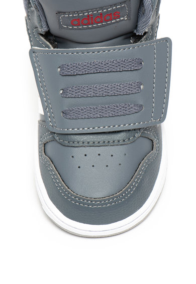 Adidas PERFORMANCE Pantofi sport mid-high de piele ecologica cu velcro Hoops Fete