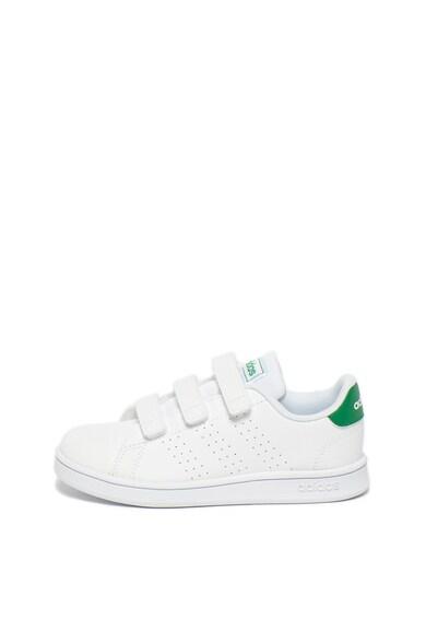 adidas Performance Pantofi sport de piele ecologica cu velcro Advantage Fete