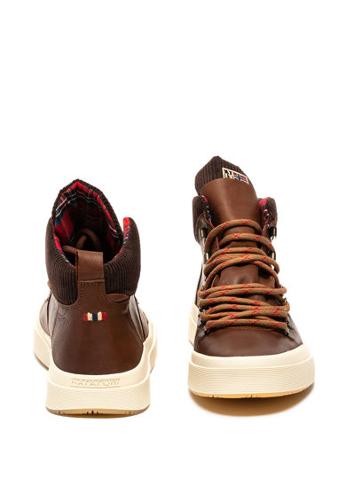 Napapijri Blast középmagas szárú bőr sneaker férfi