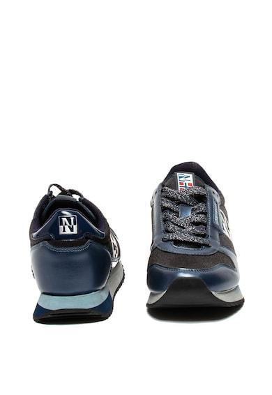 Napapijri Pantofi sport de piele ecologica, cu aplicatie logo si insertii lucioase Femei