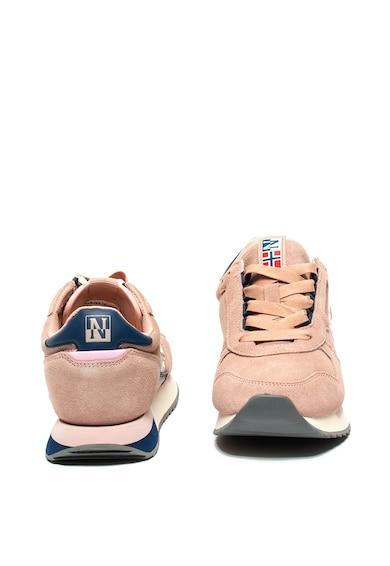 Napapijri Nyersbőr sneaker műbőr szegélyekkel női