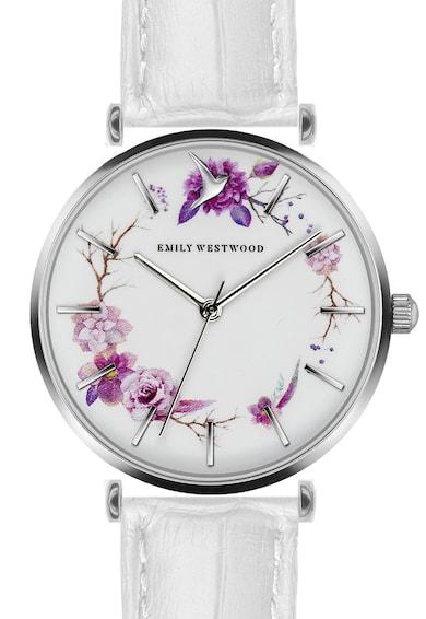 Emily Westwood Set de ceas cu o curea de piele si cercei cu tija Femei