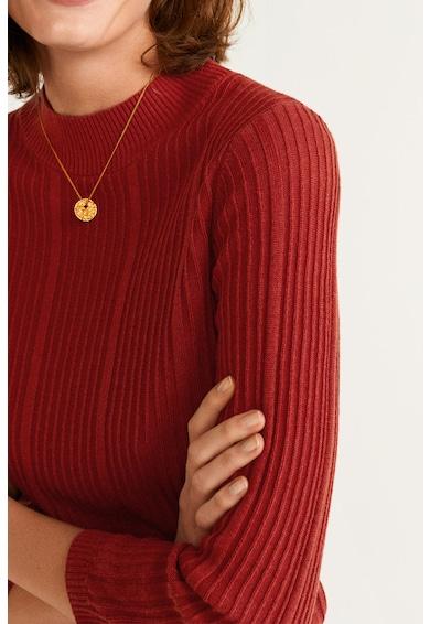Mango Рипсен пуловер с поло Жени