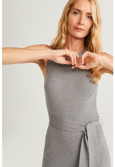 Mango Рипсена блуза Papiro без ръкав Жени