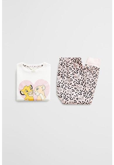 Mango Pijamale cu detaliu stralucitor Lion King Fete