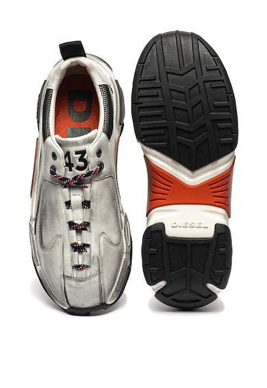 Diesel Кожени спортни обувки Kipper със захабен ефект Мъже