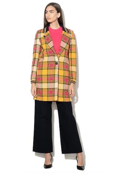Maison Scotch Kockás gyapjútartalmú kabát női