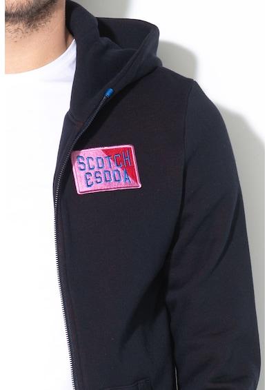 Scotch & Soda Kapucnis pulóver logós rátéttel férfi
