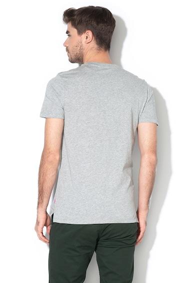 Scotch & Soda Logómintás póló aszimmetrikus alsó szegéllyel férfi