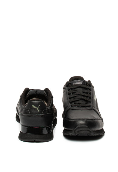 Puma Pantofi sport de piele, cu garnituri sintetice ST Runner v2, Negru Fete