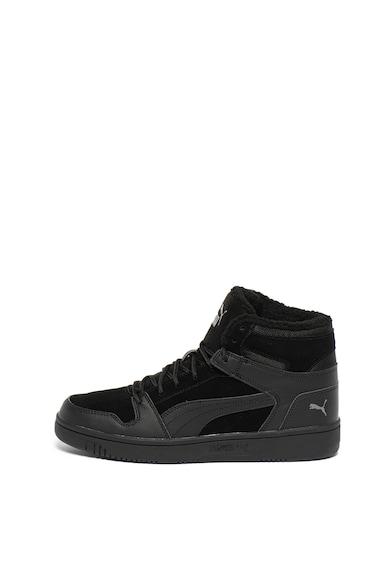 Puma Pantofi sport de piele, cu insertii de piele intoarsa ecologica Rebound LayUp SL Barbati