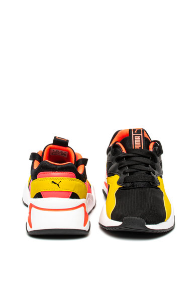 Puma Pantofi sport cu garnituri de piele ecologica Nova Funky Jr Baieti