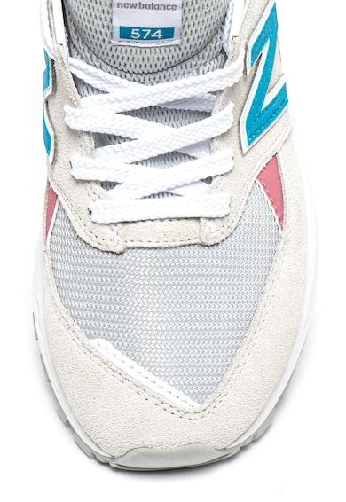 New Balance Pantofi sport din piele intoarsa si material textil 574 Femei
